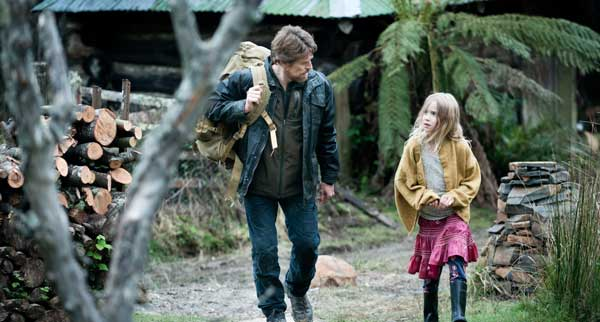 A still from The Hunter - Willem Dafoe and Morgana Davies