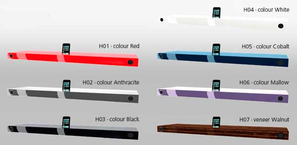 Hohrizontal 51 speaker shelf - colour range