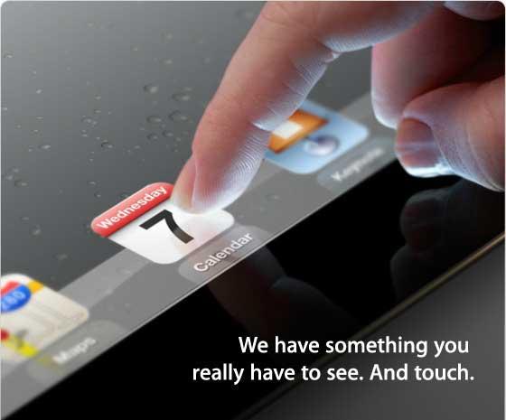Apple iPad 2012 event invitation