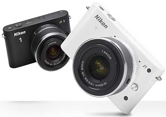 Nikon 1 J1, black and white models