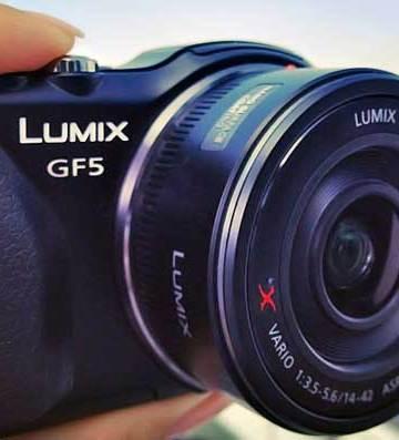 Panasonic Lumix DMC-GF5 micro four thirds camera