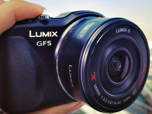 Panasonic Lumix DMC-GF5 micro four thirds camera