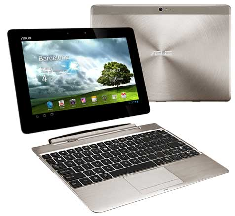 Asus Transformer Pad Infinity, front view with separated dock