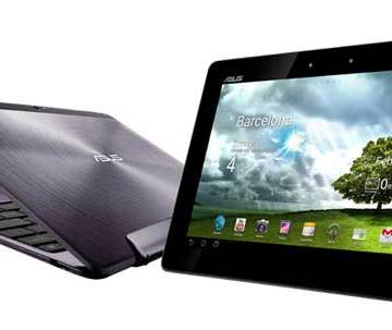 Asus Transformer Pad Infinity, with and without the keyboard dock