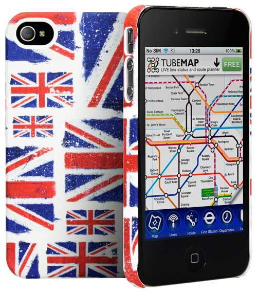 Union Jack Montage iPhone 4S case