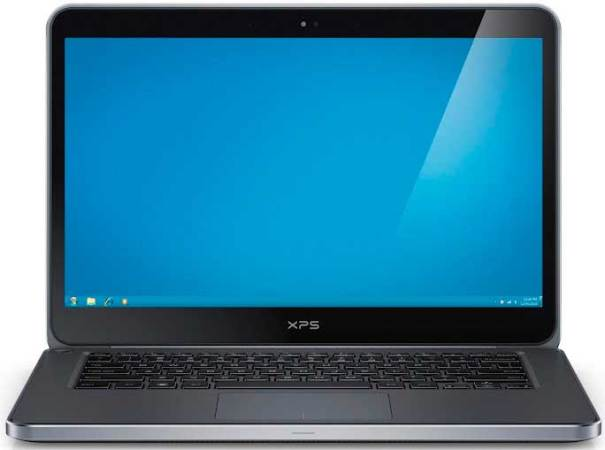 Dell XPS 14 laptop, black, front view