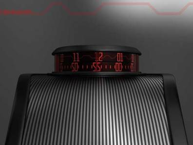 Sam Jerichow Revelation Watch design for Tokyoflash, red display