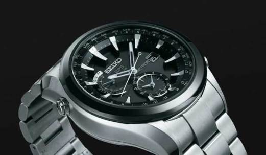 Seiko Astron GPS watch, angle view