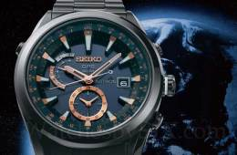 Seiko Astron GPS watch, Earth in the background
