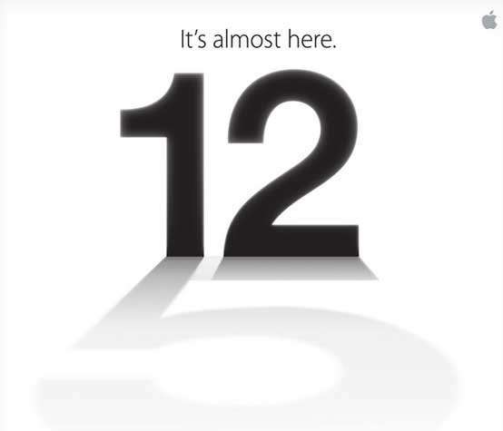 Apple iPhone 5 event announcement