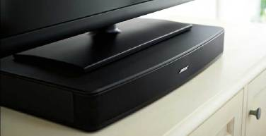 Bose Solo TV Sound System, a angle view of the front