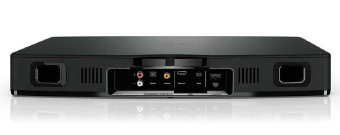Bose Solo TV Sound System, rear connections