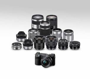 Sony Alpha NEX-6 compact system camera and the E-Mount lens family