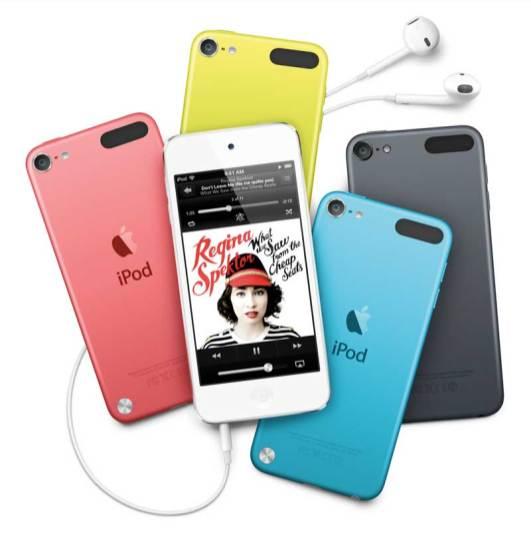 iPod Touch 2012 model, 4th Generation, colour range