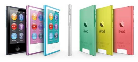 iPod nano 2012 mode, all of the colour range
