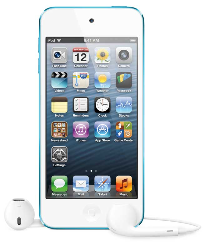 iPod touch 2012 model, 4th Generation, blue front