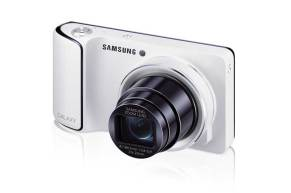 Samsung Galaxy Camera, white, front angle