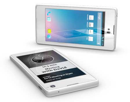 YotaPhone, Android smartphone with LCD screen and an e-ink screen