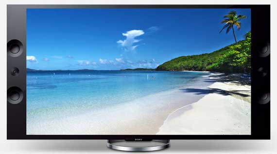 Sony 4K Ultra HD TV X9004A, front view