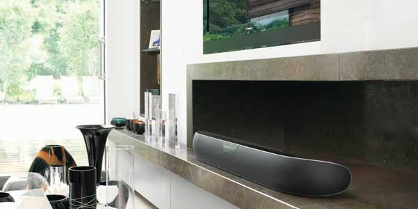Bowers + Wilkins Panorama 2 soundbar, lifestyle shot