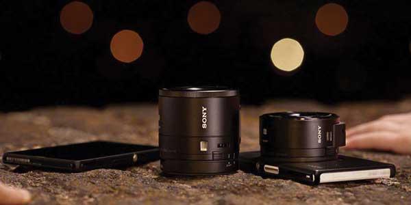 Sony lens camera range