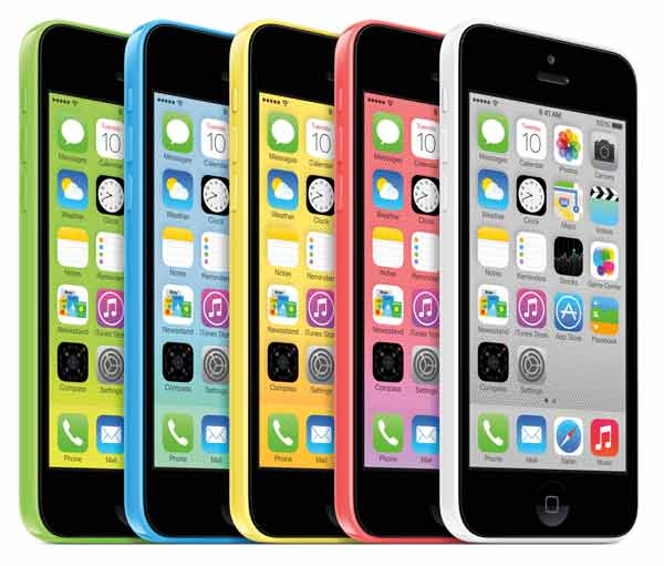 iPhone 5C colour range