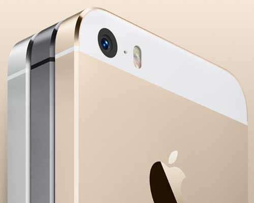 iPhone 5S colours, closeup