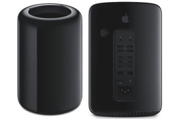 Apple Mac Pro 2013, front and back views