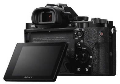 Sony Alpha 7 camera, LED screen