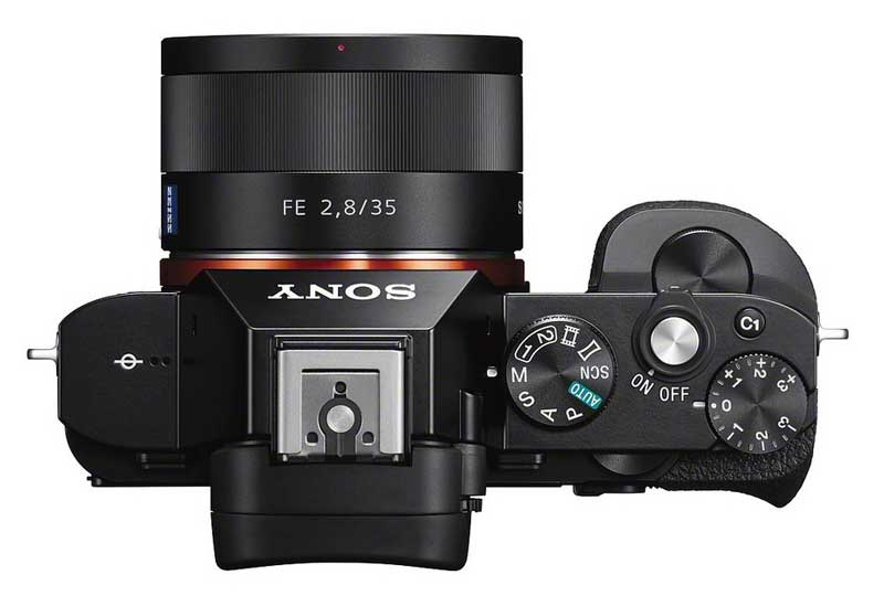 Sony Alpha 7 camera, top view