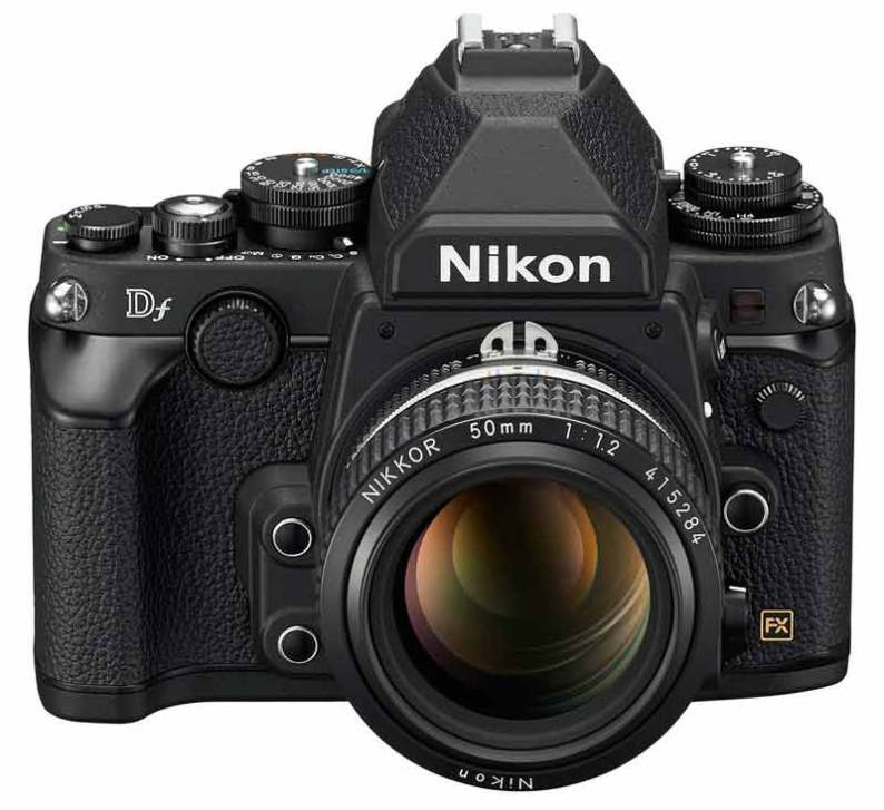 Nikon Df DSLR camera, front angle view