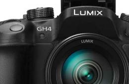 Panasonic Lumix GH4 camera, front view, main