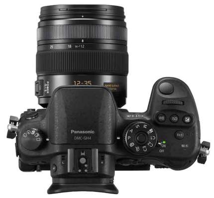 Panasonic Lumix GH4 camera, top view