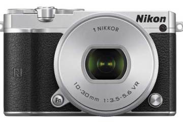 Nikon 1 J5 mirrorless camera black, front view