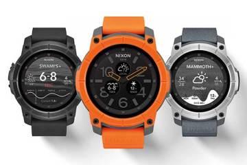 Nixon Mission smartwatch colour range