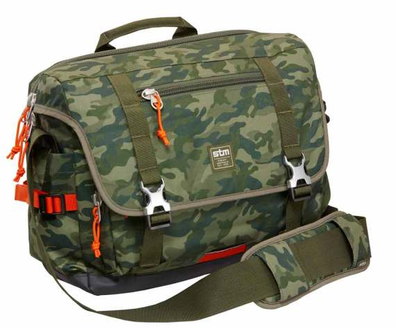 STM Trust green camo messenger bag
