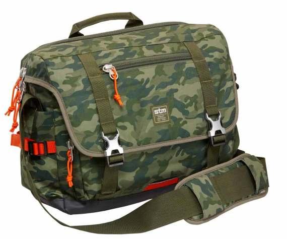 STM Trust green camo messenger bag