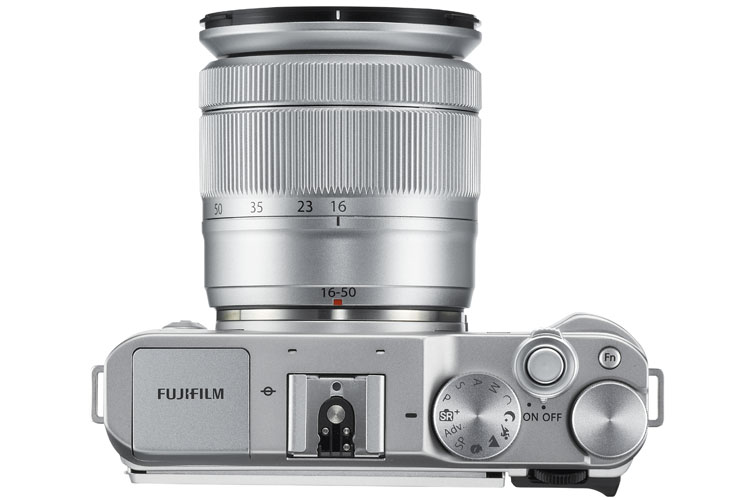 Fujifilm X-A3 top view controls