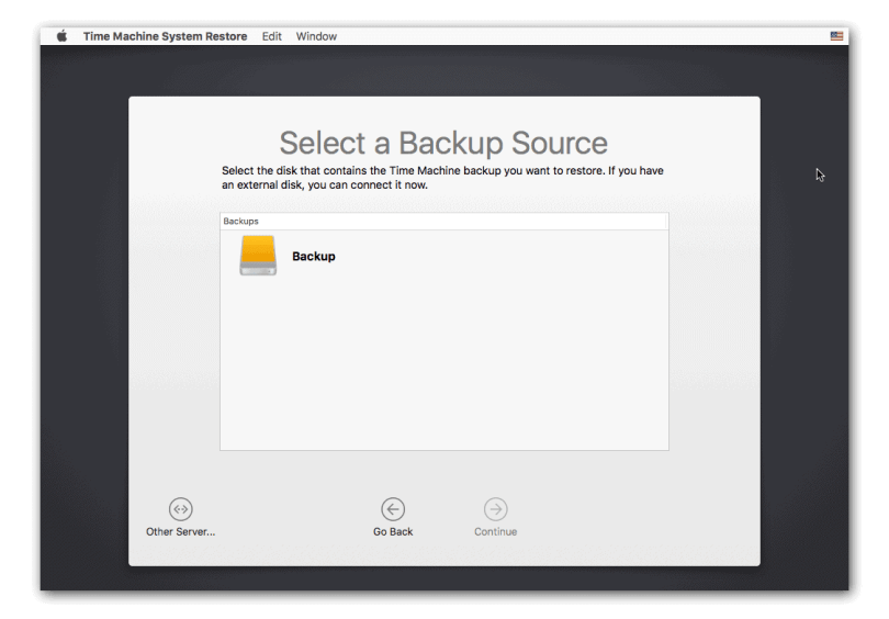 Select a Backup Source