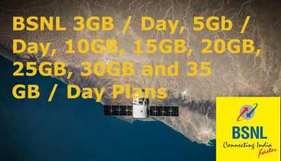 BSNL GB Per Day Plans