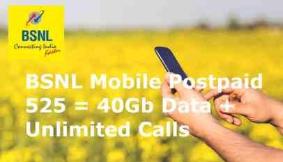 BSNL Postpaid 525 Plan