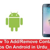 How To Add Remove Contact Photos On Android in Urdu/Hindi