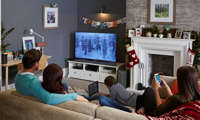 living room gaming pc arabian style how to create the perfect family movie night   techtalk