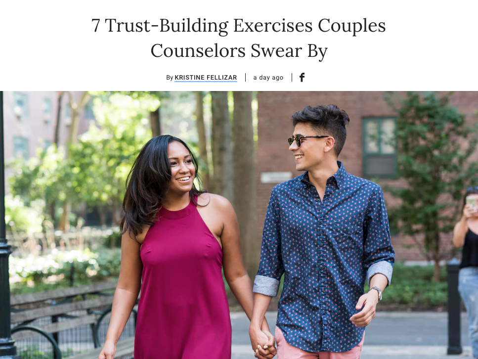 7 Trust-Building Exercises Couples Counselors Swear By | Bustle Article