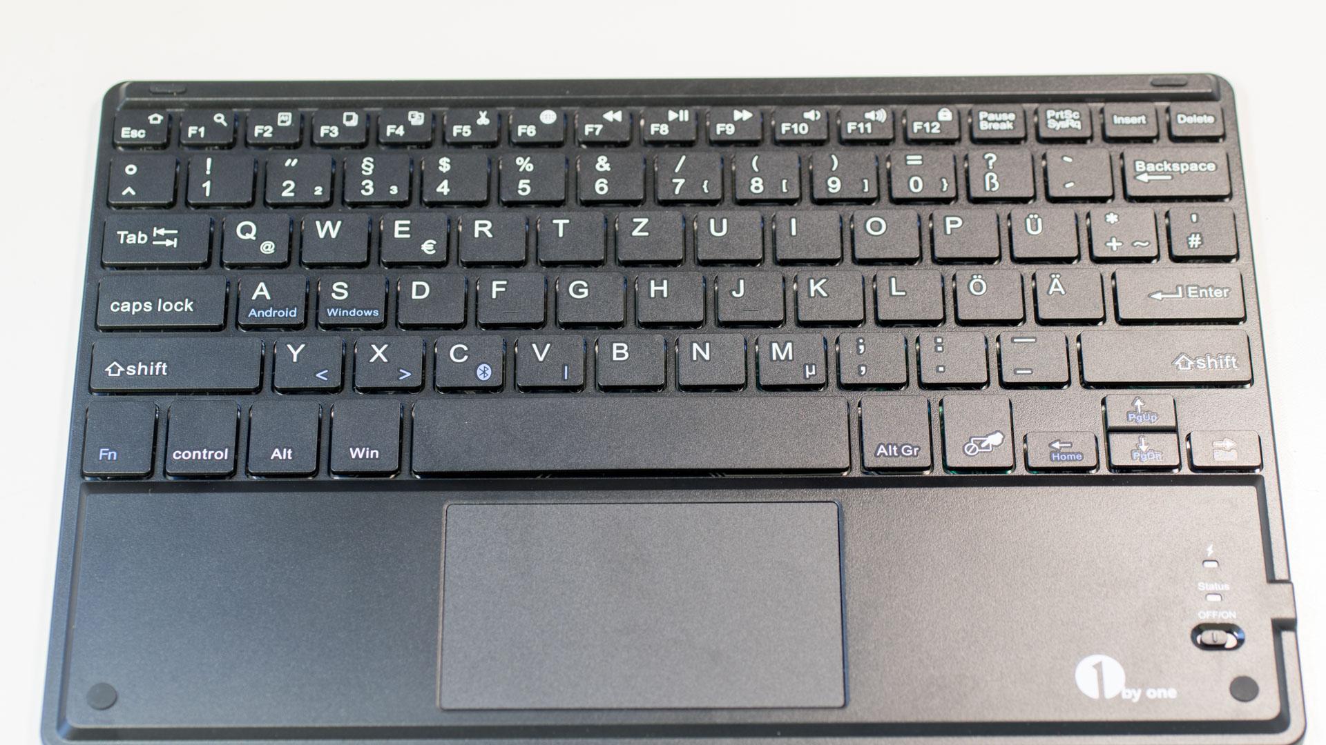 1byone AndroidWindows drahtlose Bluetooth Tastatur mit