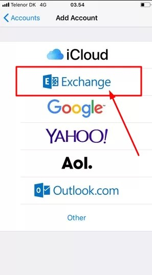 add 1and1 mail exchange account list