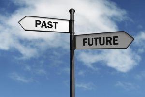 past and future sign post
