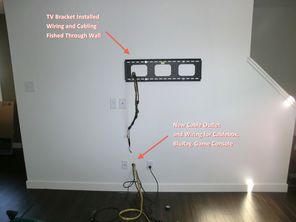 medium resolution of at first glance wall mounting a flat screen tv seemed like a television wiring diagram tv in wall wiring diagram