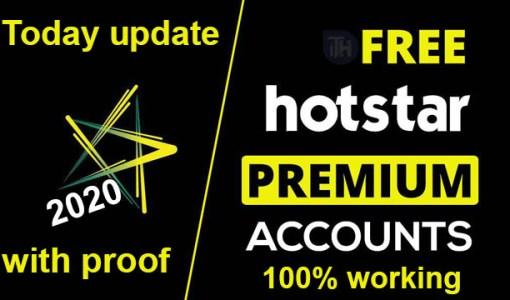 Hotstar Premium Account Free - username & Password,100% working