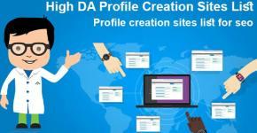 High quality Dofollow Profile Creation Sites List high DA PA Sites List